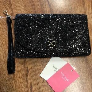 COPY - Kate Spade Glitter Wristlet andwhite Wallet